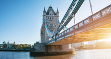 The London Tower Bridge At Sun...