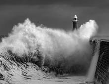 Waves Crashing Over Tyne Mouth...