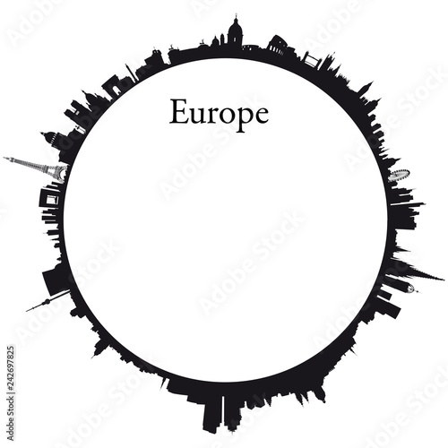Vector Europe Circular background Wallpaper Mural