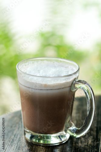 Foto op Plexiglas Chocolade Hot cocoa on table