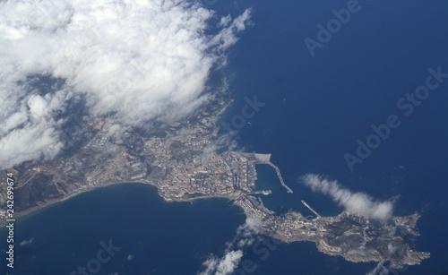 Ceuta (España) desde el aire.