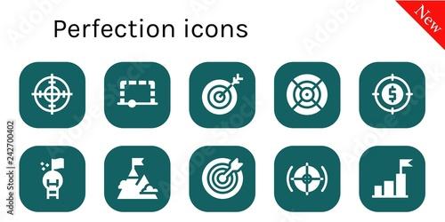 Fotografía  perfection icon set