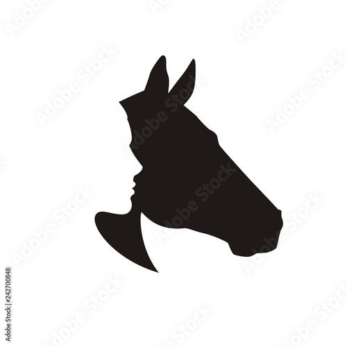 sylwetka-konia-i-czlowieka