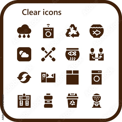 Fotografía  clear icon set