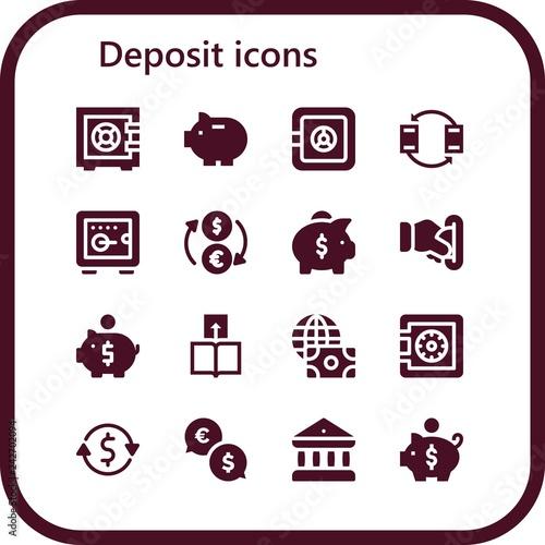 Fotografía  deposit icon set