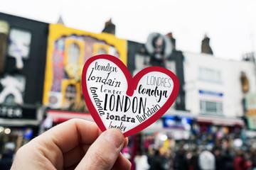 heart in camden in london, UK
