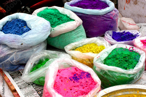 Staande foto Asia land India - colored powder