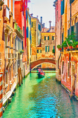 Venecijanski kanal na ljetni sunčani dan