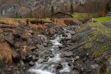 A Flowing Stream In Lauterbrunnen