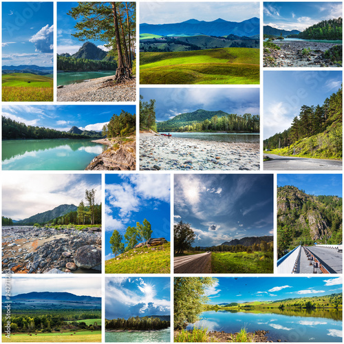Fotografía  Nature Of Altai. Collage