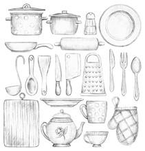 Big Set With Various Kitchenwa...