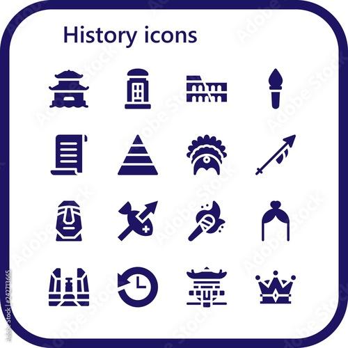 Foto  history icon set