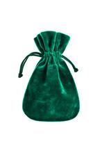 Velvet Green Pouch Isolated On...