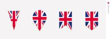 United Kingdom Flag In Vertical Design, Vector Illustration
