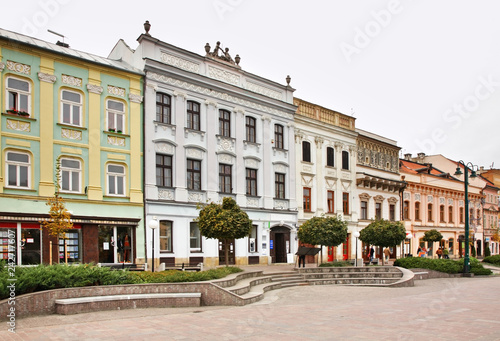 Foto op Canvas Wenen Main Street (Hlavna ulica) in Presov. Slovakia