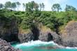 대한민국 제주도 서귀포의 해안 풍경이다.