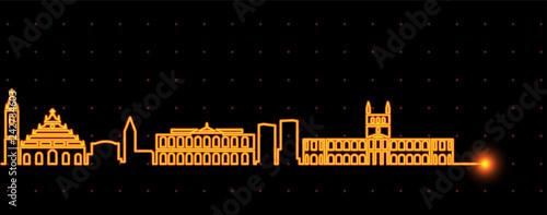 Asuncion Light Streak Skyline Wallpaper Mural