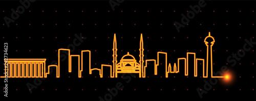 Photo Ankara Light Streak Skyline