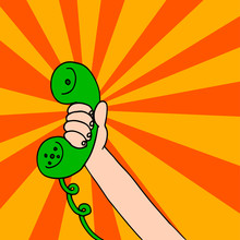 Illustration To Tell Someone To Call Right Now By Phone