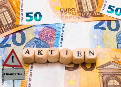 Fotografía  Finanzkrise Aktien