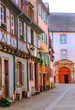 Street in Colmar in Alsace in northern France on a sunny day