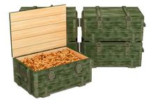 Military Wooden Ammunition Box...