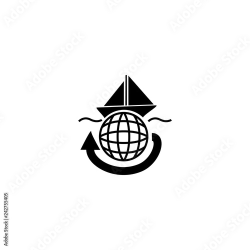 Foto  tourism icon vector. tourism vector graphic illustration
