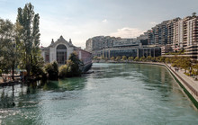 Leman Lake In The Swiss City O...