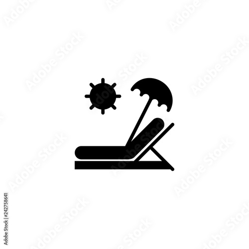 Photographie sunbed icon vector. sunbed vector graphic illustration