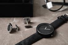 Stylish Wrist Watch And Cuff L...