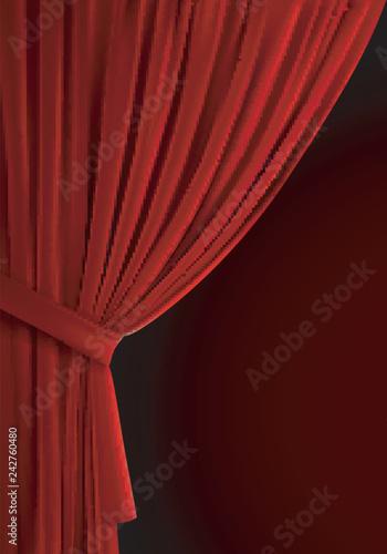 Fotografia  Red curtain background.