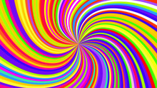 Colorful Swirling Radial Vorte...