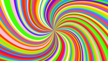 Colorful Swirling Radial Vortex Background