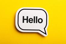 Hello Speech Bubble Isolated O...