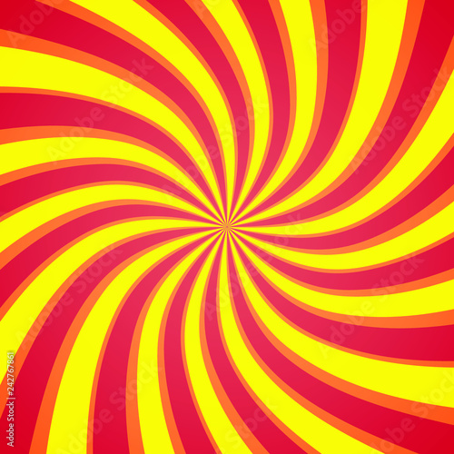 Spoed Foto op Canvas Psychedelic Colorful Swirling radial vortex background