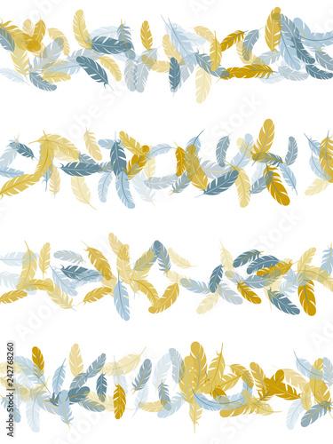 Fotografie, Obraz  Detailed majestic feather on white design.