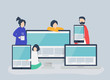 People with web design concept illustration
