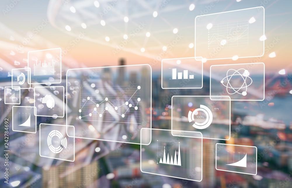 Fototapety, obrazy: Analytics data big business intelligence background bi