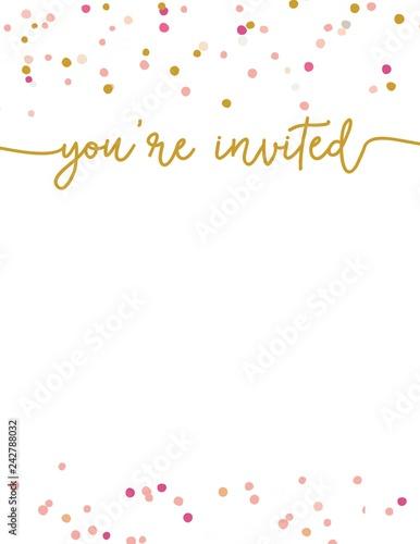 Cute Party Invitation Template You Re Invited Party Invitation