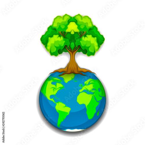 абстрактное разноцветное дерево и земля