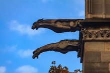Gothic Gargoyles Covered In Mo...