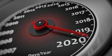2020 New Year. Car Speedometer...