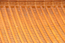 Close Up Beautiful Traditional Temple Roof Pattern.