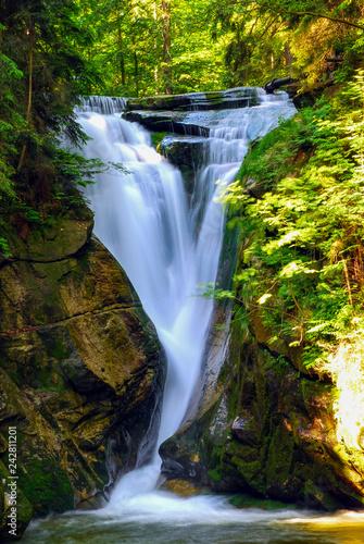 Foto op Plexiglas Watervallen Waterfall Szklarka Giant Mountains (Karkonosze, Riesengebirge), Poland