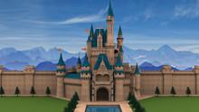 Fantasy Fairy Tale Castle 3D Illustration