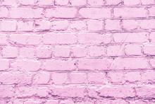 Lilac Uneven Brick Wall Close-up