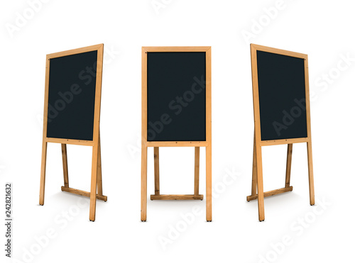 Foto  Chalk Boards wooden isolated on white background.