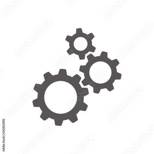 Fototapeta Settings gears (cogs) flat icon for apps and websites obraz