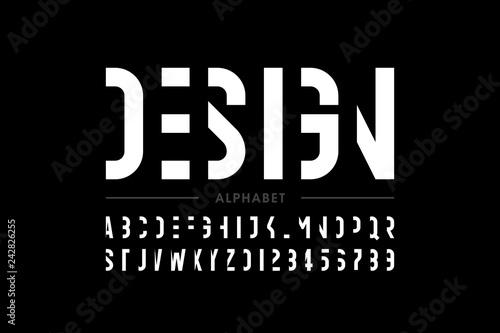 Cuadros en Lienzo Modern font design