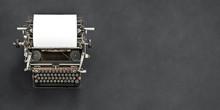 Vintage Typewriter With Blank ...